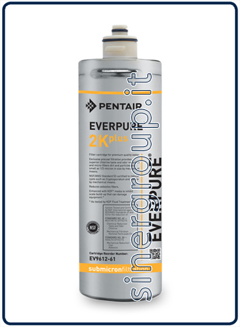 Everpure 2K Plus antimicrobial antiscale replacement filter 5.600lt. - 1,9lt./min 0,5 micron (6)