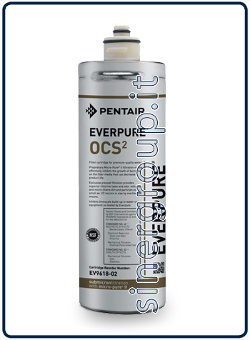 Everpure OCS(2) antimicrobial antiscale replacement filter 5.670lt. - 1,9lt./min. 0,5 micron (6)