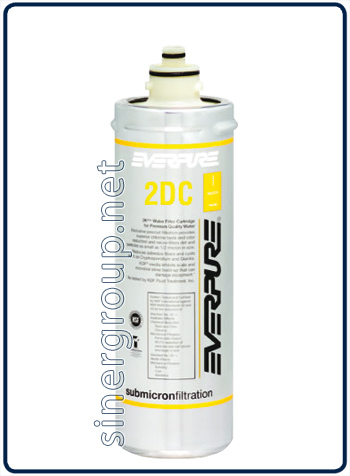 Everpure 2DC antimicrobial replacement filter 2.840lt. - 1,9lt./min 0,5 micron (6) - Click Image to Close