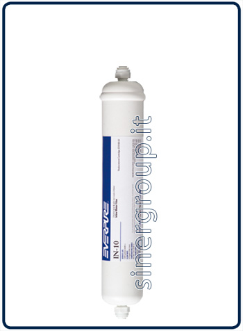 "Everpure IN-10 antiscale replacement in-line filter 9.085lt. - 2,8lt./min. - 1/4"" J.G. (6)"